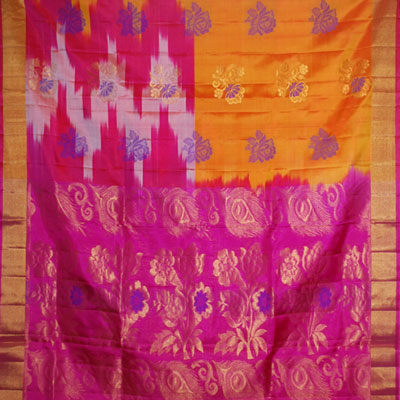 Click here for more on Goldenyellow color Light weight Pattu Saree NSH-61(with Blouse)
