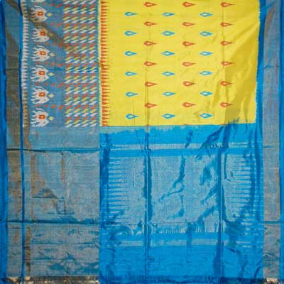 View More(Exclusive Pochampally Ikkat Saree - NHM-5 (With Blouse)