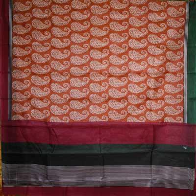 View More(Twinkle Silk print pure silk Saree - NDC-28