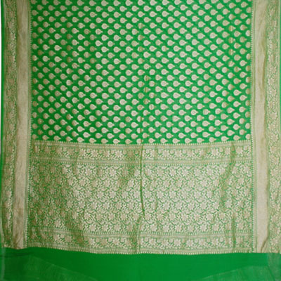 View More(Exclusive Pure Banaras Crepe Saree BSM-1