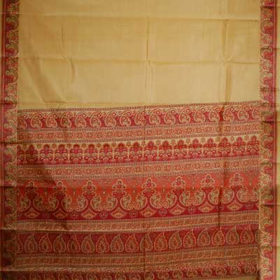 View More(Vandana Satin Patta Border Pure Silk Saree - CDC-40