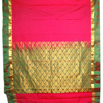 Click here for more on Dark pink color kanchi fancy silk saree NSR-07(with Blouse)