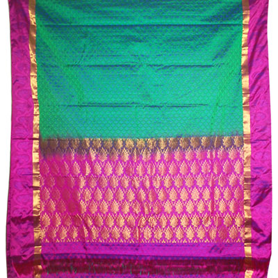 Click here for more on Kalaneta green kanchi fancy silk saree NSR-08(with Blouse)