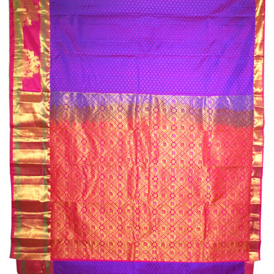 Click here for more on Violet Color Kanjeevaram fancy silk saree NSR-11(with Blouse)