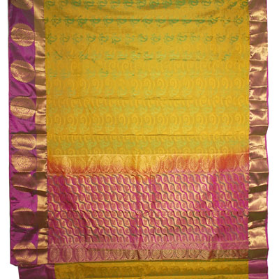 Click here for more on Mixed green color kanchi fancy silk saree NSR-13 (with Blouse)