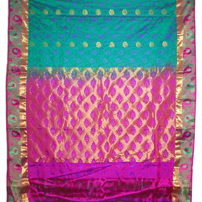 Click here for more on Mixed green color kanchi fancy silk saree-NSR-32 (with Blouse)