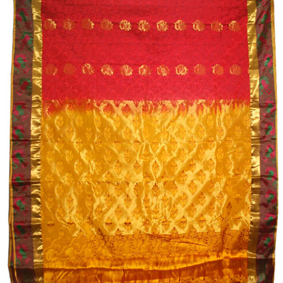 Click here for more on Red color kanchi fancy silk saree-NSR-33 (with Blouse)