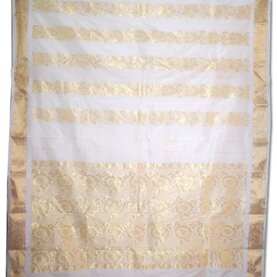 Click here for more on Half white color kanchi fancy silk saree NSR-60(with Blouse)