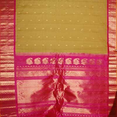 View More(Gadwal Seico Saree Rich Pallu SMH-11 (With Blouse)