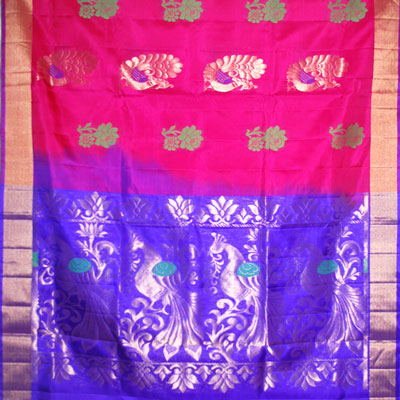 Click here for more on Dark Pink Light weight Pattu Saree NSM-3 (with Blouse)