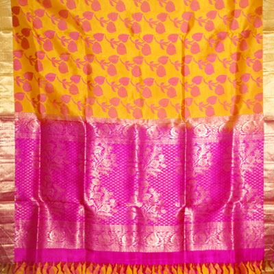 Click here for more on Mustard Light weight Pattu Saree NSM-6 (with Blouse)