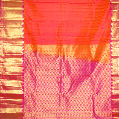 Click here for more on Orange colour kanjeevaram fancy silk saree NSM-9 (with Blouse)
