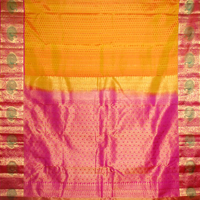 Click here for more on Golden yellow colour kanjeevaram fancy silk saree NSM-12(with Blouse)