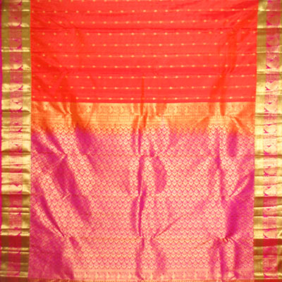 Click here for more on Golden Orange colour kanjeevaram fancy silk saree NSM-16(with Blouse)