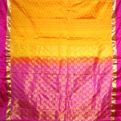 Click here for more on Mustard kanchi fancy silk saree NSM-23(with Blouse)