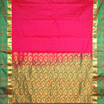 Click here for more on Red color kanjeevaram fancy silk saree NSM-25 (with Blouse)