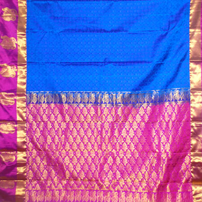 Royalblue color kanchi fancy silk saree NSM-32 (with Blouse)