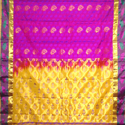 Click here for more on Majenta color kanchi fancy silk saree NSM-36 (with Blouse)