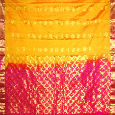 Click here for more on Yellow color kanchi fancy silk saree NSM-45 (with Blouse)