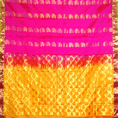 Click here for more on Pink color kanchi fancy silk saree NSM-46 (with Blouse)