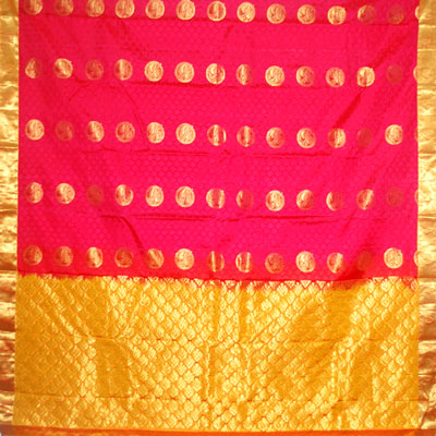 Click here for more on Red color kanchi fancy silk saree NSM-48 (with Blouse)