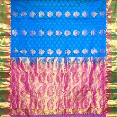 Click here for more on Anandablue color kanchi fancy silk saree NSM-57 (with Blouse)