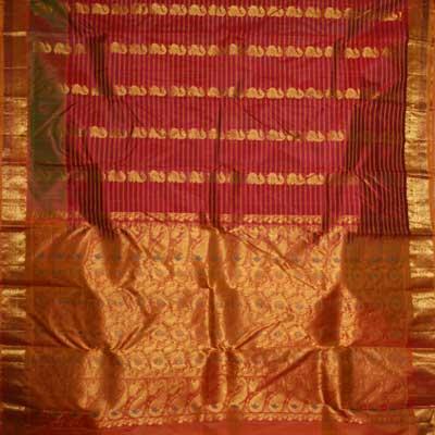 View More(Maroon color kanjeevaram silk saree RMT-25