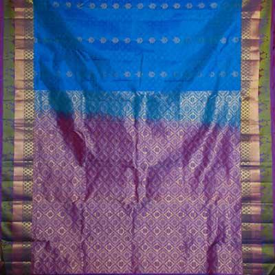 View More(Kalanetablue Colour fancy kanchi soft silk saree RMT-49