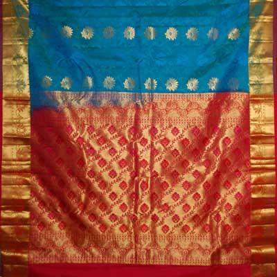 View More(Luxgreen color kanjeevaram silk saree RMT-59