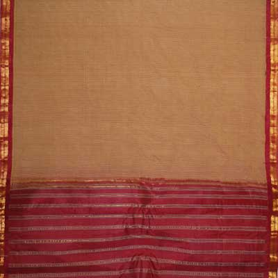 View More(Gadwal Cotton Saree Small Border AGR-30(without Blouse)