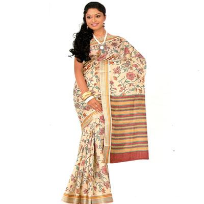 View More(Kadiyala Kathani Fancy Print Pure silk Saree - NDC-39
