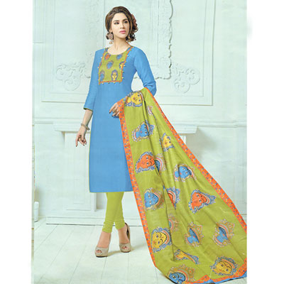 Click here for more on Anandablue combination kalamkari print Dress Material SWS-57