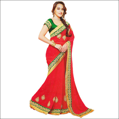 View More(Fancy Designer saree - VIG-42