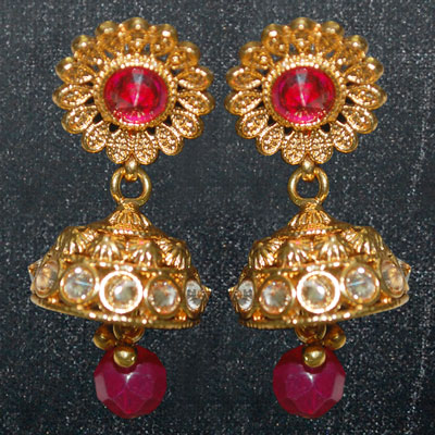 Click here for more on 1grm Fancy Gold coated Eartops - MGR-639-001
