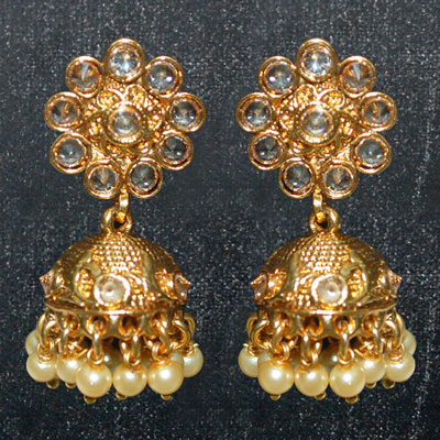 Click here for more on 1grm Fancy Gold coated Eartops - MGR-640-001