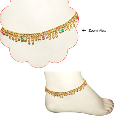 Click here for more on 1grm Gold coated Fancy Anklets -MGR -629-006