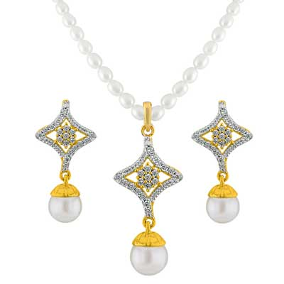 Click here for more on Star Drop Pearl Pendant Set - JPDEC-15-87