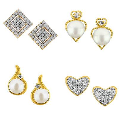 Click here for more on Set Of Four Pair Earrings - JPV-17-03