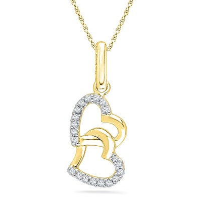 Click here for more on 18 Kt You And Me Diamond Pendent - PH011317