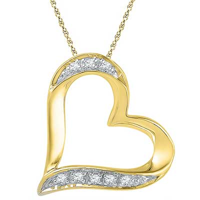 Click here for more on 18 Kt Gold Cherish Heart Diamond Pendant - Ph016511