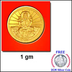 Laxmi Gold Coin 1gram To Hyderabad Chennai Banglore India