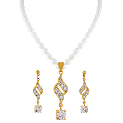 Click here for more on Parneetha Pearl Pendant Set - jpjan-17-031