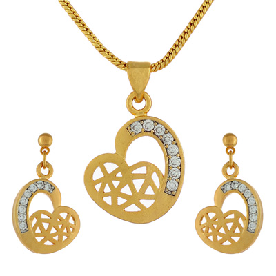 Click here for more on Flower Heart Pendant Set - jpjan-17-032