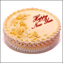 New Year Special Cake - 4 to Hyderabad,Chennai,Banglore,India