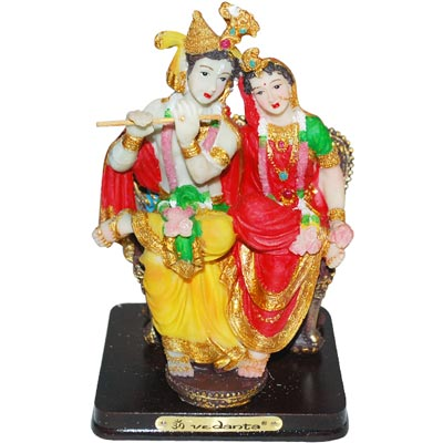 Radha krishna Idol in sitting position - 014