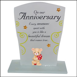 Click here for more on Our Anniversary Message Stand-170-001