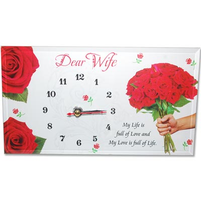 Message Stand for Wife with Clock - 249-001