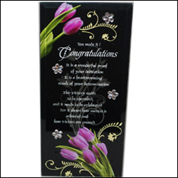 Click here for more on Desktop Message Stand (Congratulations)-253-001