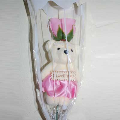 Click here for more on Artificial Rose with Teddy -36
