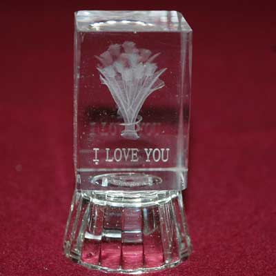 Click here for more on Decorative Crystal Piece with I Love You Message-336-012